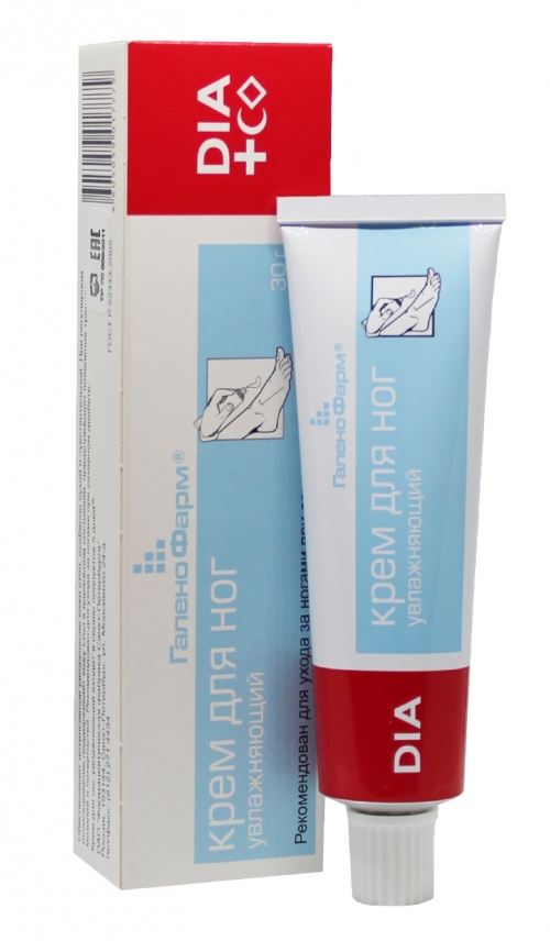Крем для ног увлажняющий DIA Cosmetics
